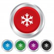 Snowflake sign icon. Air conditioning symbol. — Stock Vector #38239863