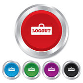 Logout sign icon. Log out symbol. Lock. — Stock Vector