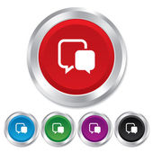 Chat sign icon. Speech bubbles symbol. — Stock Vector
