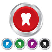 牙齿标志图标。牙科符号. — 图库矢量图片