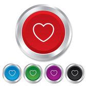 Ícone de sinal de coração. símbolo de amor. — Vetor de Stock