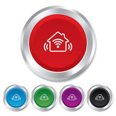 Smart home sign icon. Smart house button. — Stock Vector