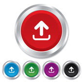Upload sign icon. Upload button. — Stock Vector