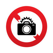 No Photo camera sign icon. Photo flash symbol. — Stock Vector