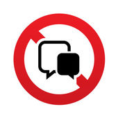 No Chat sign icon. Speech bubble symbol. — Stock Vector