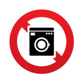 No Washing machine icon. Home appliances symbol — Stock Vector