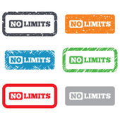 No limit sign icon. Unlimited symbol — Stock Vector