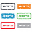 Stock Photo: Accepted sign icon. Approved symbol