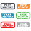 Free delivery sign icon. Delivery button. — Stock Photo #38763413