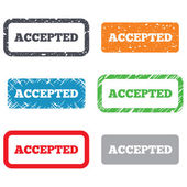 Accepted sign icon. Approved symbol — Stock Photo