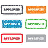 Approved sign icon. Checked symbol — Stock Photo