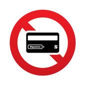 No Credit card sign icon. Debit card symbol. — Stock Photo