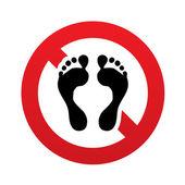 人类的足迹签名图标。没有赤脚的符号. — 图库照片