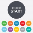 Start engine sign icon. Power button. — Stock Vector