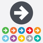 Arrow sign icon. Next button. Navigation symbol — Stock Vector