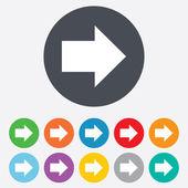 Ícone de sinal de seta. botão Avançar. símbolo de navegação — Vetor de Stock