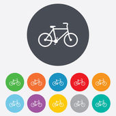 Bicycle sign icon. Eco delivery. — Cтоковый вектор