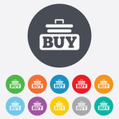 Buy sign icon. Online buying cart button. — Stock Vector