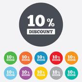 Icono de signo de descuento 10%. símbolo de venta. — Vector de stock