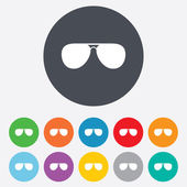 Aviator sunglasses sign icon. Pilot glasses. — Stock Vector