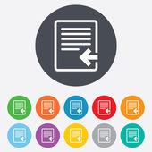 Import file icon. File document symbol. — Stock Vector