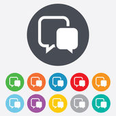 Chat sign icon. Speech bubble symbol. — Vetor de Stock