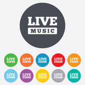 Live music sign icon. Karaoke symbol. — Stock Vector
