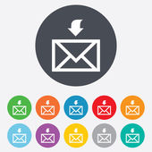 Mail receive icon. Envelope symbol. Get message — Stock Vector
