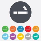 Icono de signo de fumar. símbolo del cigarrillo. — Vector de stock