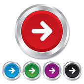 Arrow sign icon. Next button. Navigation symbol — Stock Photo