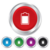 Battery level sign icon. Electricity symbol. — Stock Photo