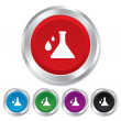 Chemistry sign icon. Bulb symbol with drops. — Stock Photo #39120359