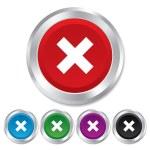 Delete sign icon. Remove button. — Stock Photo