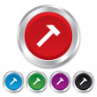 Stock Photo: Hammer sign icon. Repair service symbol.