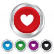 Heart sign icon. Love symbol. — Stock Photo #39122585