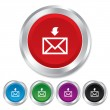 Stock Photo: Mail receive icon. Envelope symbol. Get message