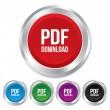PDF download icon. Upload file button. — Stock Photo