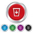 Send to the trash icon. Recycle bin sign. — Stock Photo #39124939
