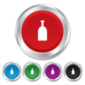 Alcohol teken pictogram. drankje symbool. fles. — Stockfoto