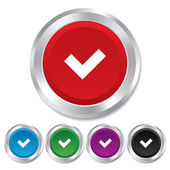 Check sign icon. Yes button. — Stock Photo