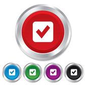 Check mark sign icon. Checkbox button. — Stock Photo