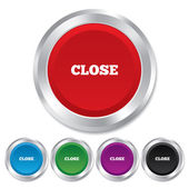 Close sign icon. Cancel symbol. — Stock Photo