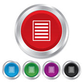 List sign icon. Content view option symbol. — Stock Photo