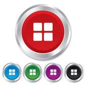 Thumbnails icon. Gallery view option symbol. — Stock Photo