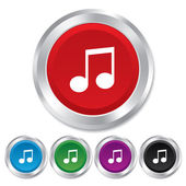 Music note sign icon. Musical symbol. — Stock Photo