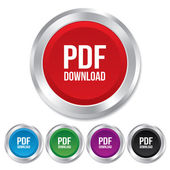 PDF download icon. Upload file button. — Stock Photo