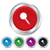 Pushpin sign icon. Pin button. — Stock Photo