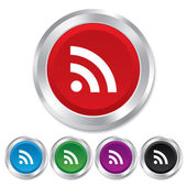 RSS sign icon. RSS feed symbol. — Stock Photo