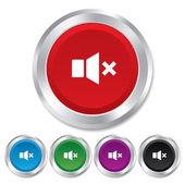 Mute speaker sign icon. Sound symbol. — Stock Photo