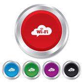 Gratis w-lan zeichen. wifi-symbol. wireless-netzwerk. — Stockfoto